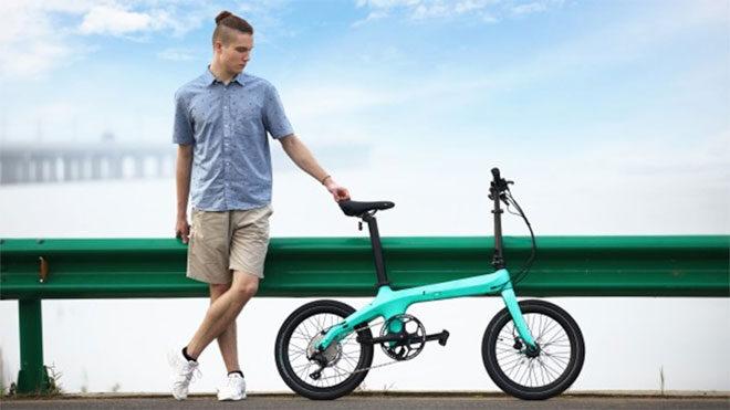 karbon fiber katlanabilir elektrikli bisiklet