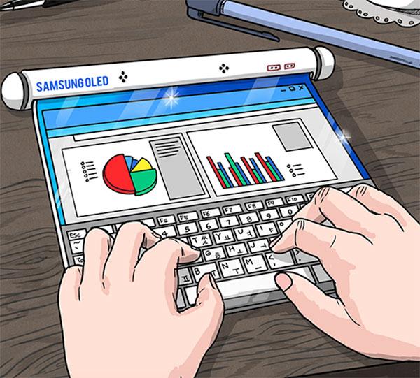 Samsung Display'den telefon tarafı için yapılan gelecek gösterimi