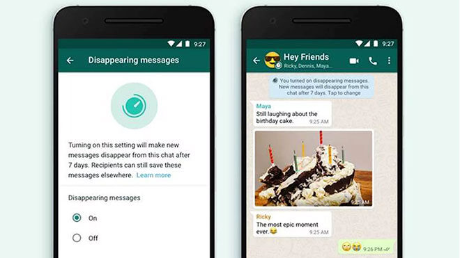 """WhatsApp için """"süreli mesajlar"""" özelliği kullanıma çıktı; işte detaylar -  LOG"""