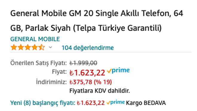 General Mobile GM 20