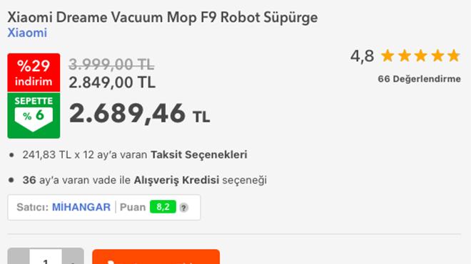 Xiaomi Dreame Vacuum Mop F9