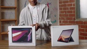 Surface Pro 7 MacBook Pro Microsoft