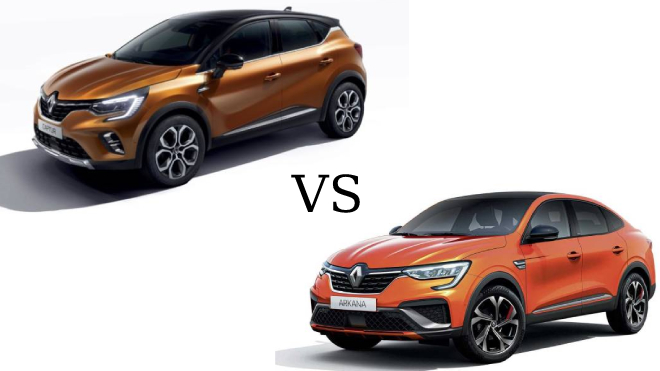 Renault Arkana vs Renault Captur