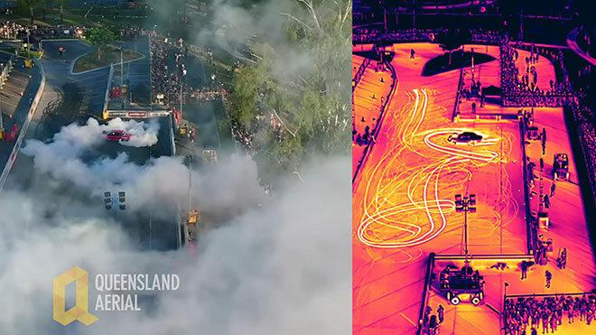 termal kamera drone lastik yakma