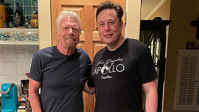 Richard Branson ve Elon Musk