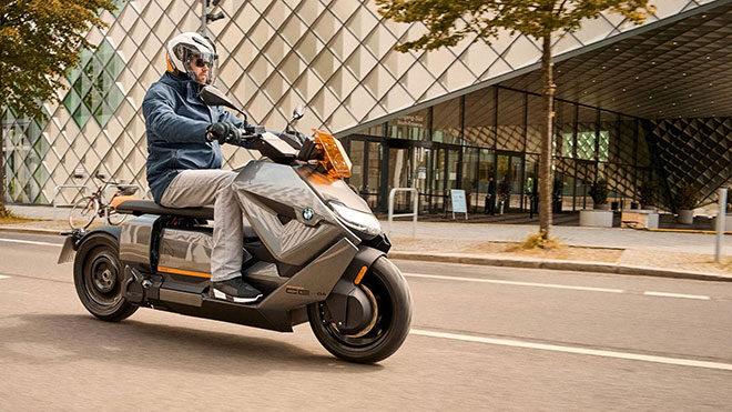 Fütüristik elektrikli motosiklet BMW CE 04