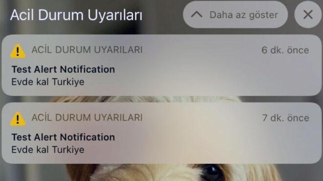 iphone acil durum bildirim