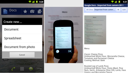 Google Docs uygulaması