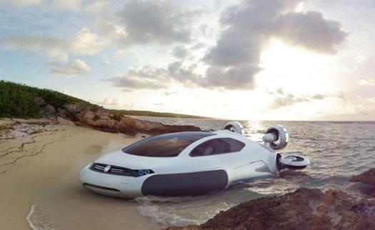 Yarı otomobil yarı hovercraft: Aqua Volkswagen