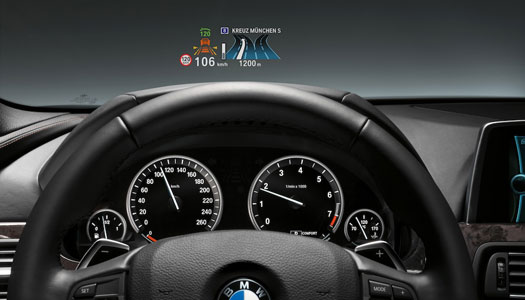Jetlerdeki sistem, Head-Up Display ile BMW'lere geliyor
