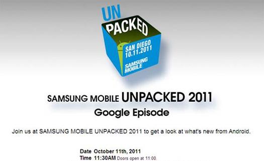 Samsung Unpacked 2011 - Google Episode