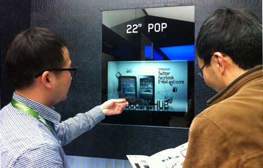 Samsung transparan LCD